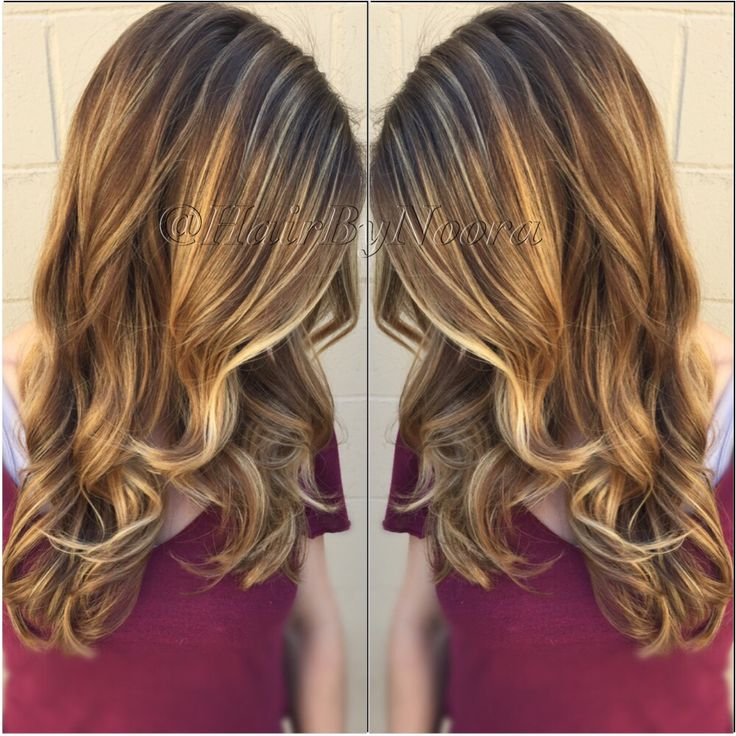 Light Golden Brown Balayage Sombre Hair Painting Sunkissed