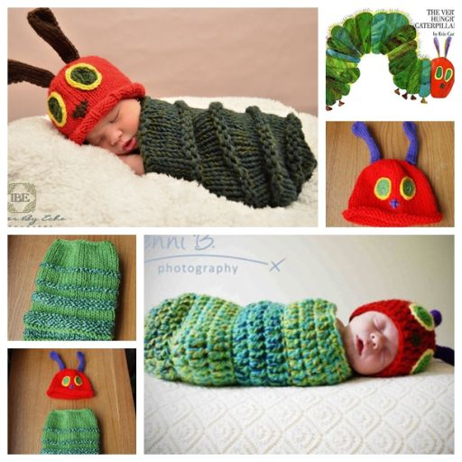 Newborn Caterpillar Hat Cocoon Free Crochet And Knitting Pattern | DIY Tag