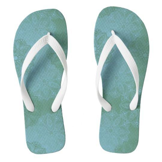 Mandala Garden Flip Flops