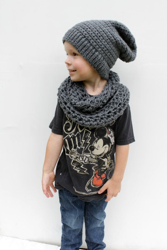 Hey, I found this really awesome Etsy listing at https://www.etsy.com/listing/201751687/childrens-infinity-scarf-grey-toddler