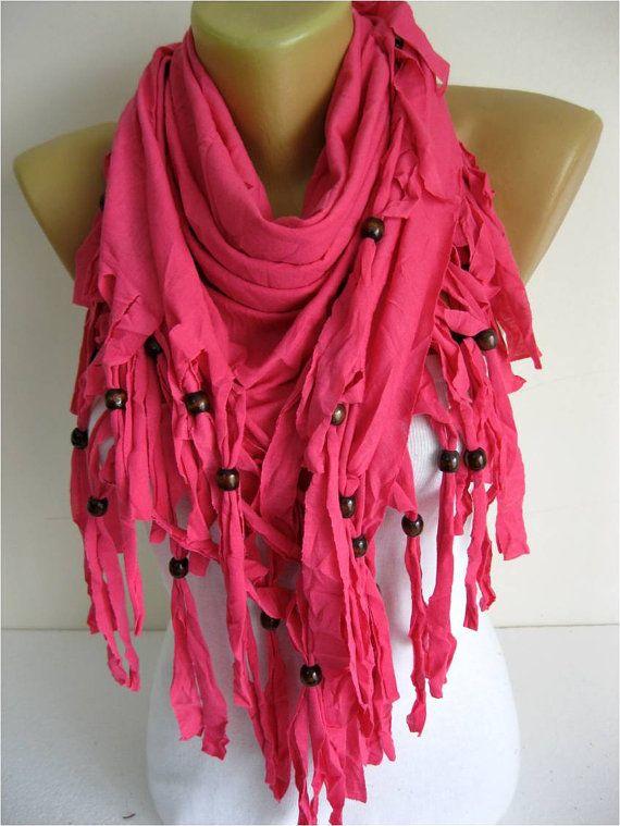 Trend Scarf Pink Scarf  Shawls-Scarves-gift Ideas by SmyrnaShop