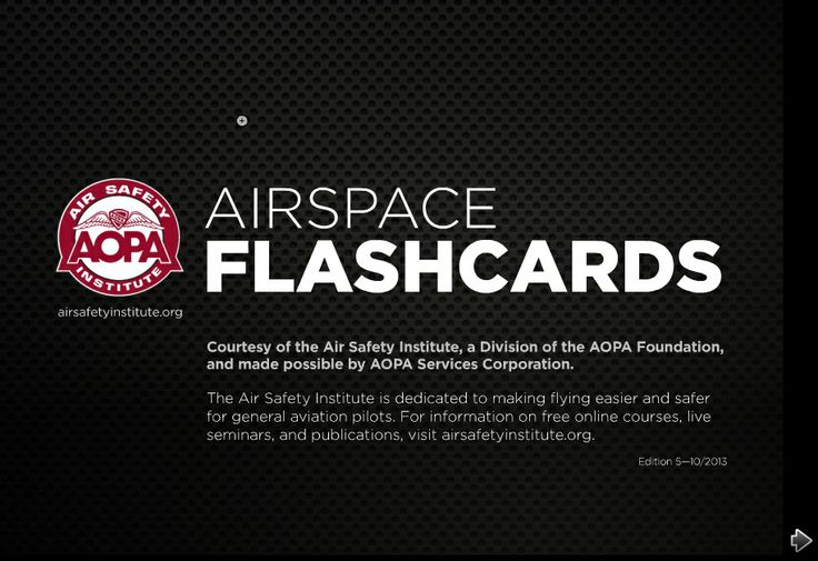 The Airspace Flash Cards help pilots keep the different