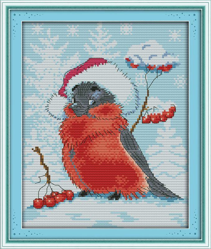 Рождественский Снег Птица! DMC DIY 11 & 14CT Счетный Наборы для Вышивки Крестом Наборы Для Рукоделия Вышивка Вязальные Спицы Вышивка Крестом