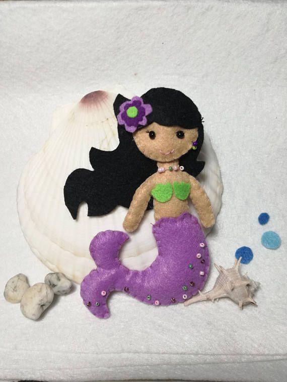 Sirena in feltro ornamento bambola principessa sirena mare pesce simpatico peluche sirena ornamento
