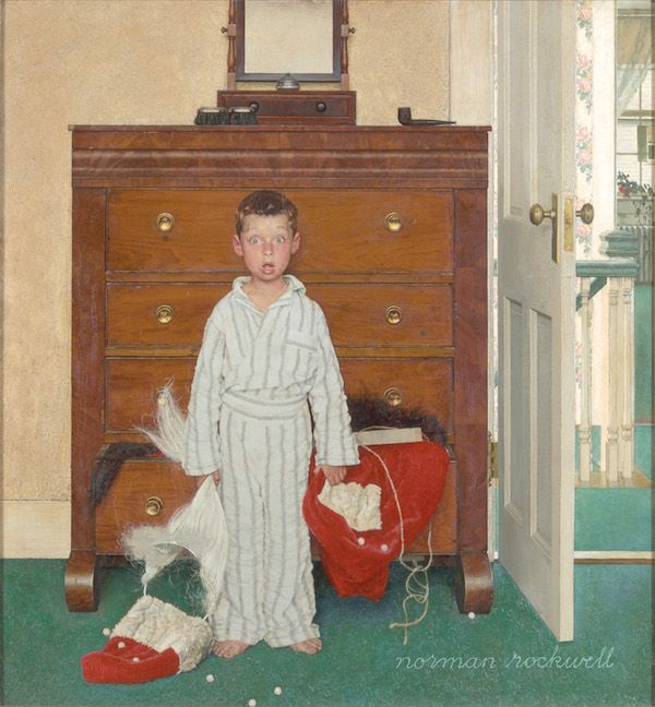 Norman Rockwell - The Discovery, oil on canvas,1956. Collection of The Norman Rockwell Museum at Stockbridge