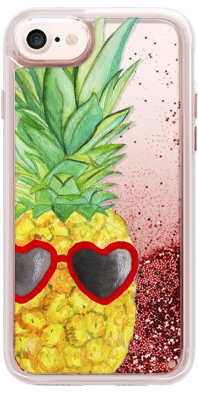 Casetify iPhone 7 Glitter Case - Pineapple by Lauren Davis #Casetify