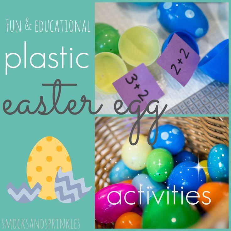 Smocks and Sprinkles: Fun & Educational Plastic Easter Egg Activities!