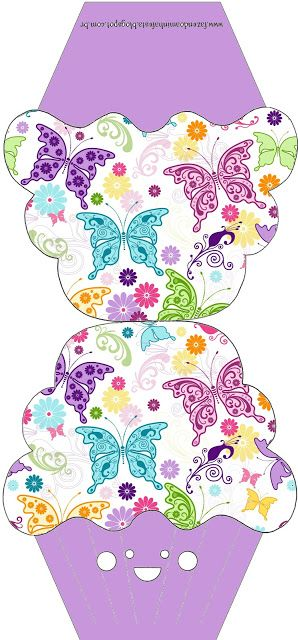Imprimibles para invitaciones con forma de cupcakes. - Ideas y material gratis para fiestas y celebraciones Oh My Fiesta!