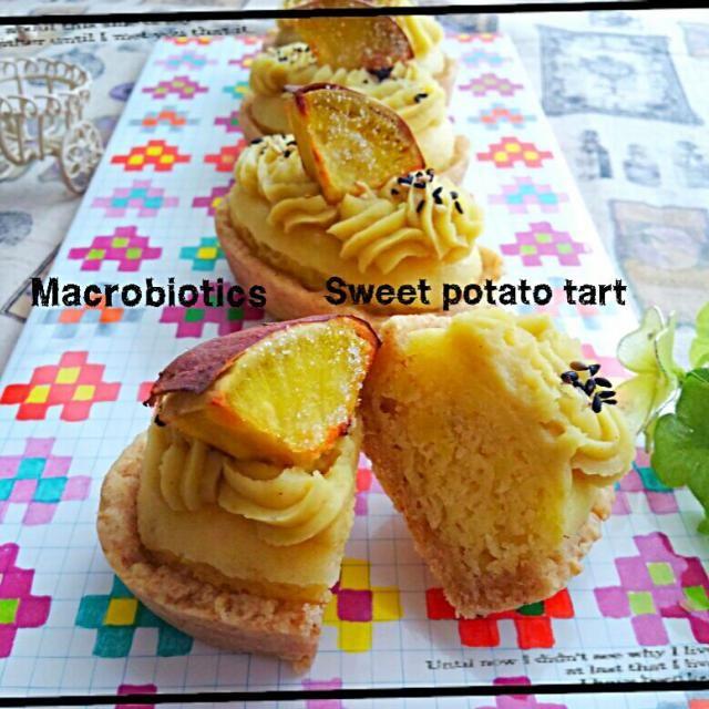 マクロビスイーツ初心者が挑戦✨(*Θ∀Θ)σ  タルト生地には豆乳、全粒粉、オリーブオイルやらでつくり、ダマンドにはアーモンドプードル、薄力粉、豆乳、さつまいもをつぶしたものなどなど。 クリームはさつまいも、豆乳、シロップ、シナモンです。 わりと適当に配合しちゃいましたがなんとか形になってホッ(〃´o`)=3 フゥ 甘みは甜菜糖使っております。  トップのクリームに生クリーム入れたくて入れたくて、、、でも、こらえました(笑)←かなりの山場でした  たまにはこーゆーのもいいですね✨ さつまいもの甘みがいいわぁ〰〰なんか軽い味わい - 223件のもぐもぐ - マクロビスイーツ✨スイートポテトタルト by prizumkyk727
