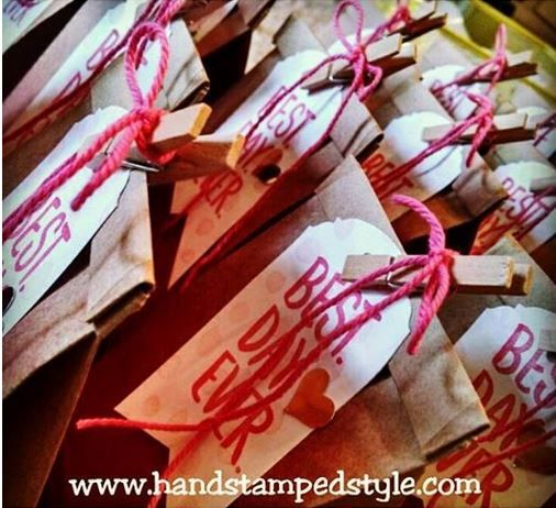 Best Day Ever Petite Cafe Bags all decked out for my Sale-A-Bration Kickoff Party guests http://www.handstampedstyle.com