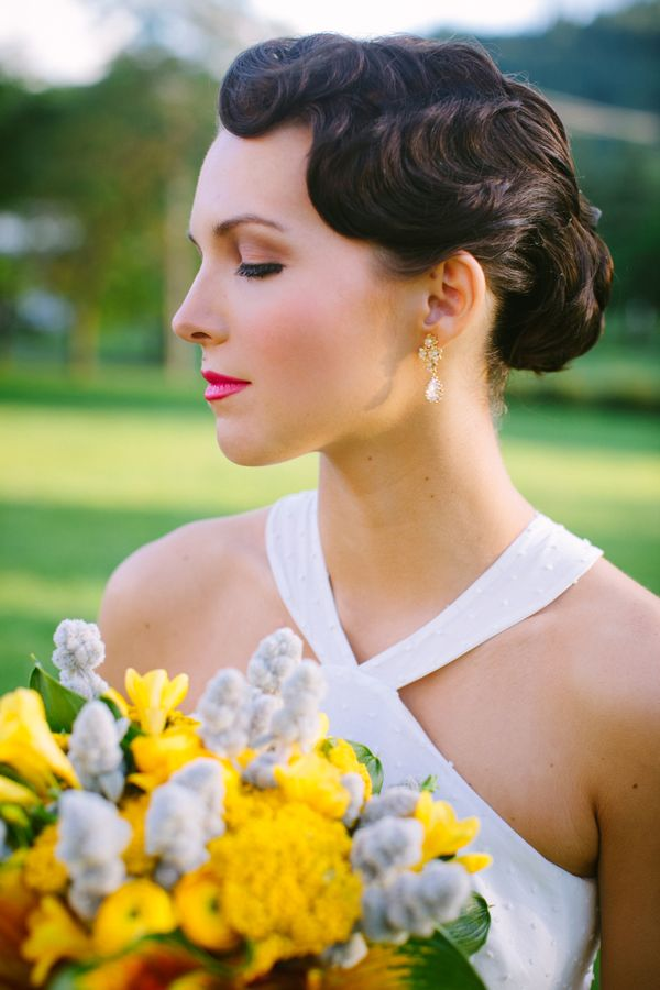 Finger waves - exactly like what I want only with the bun a little lower on the neck.