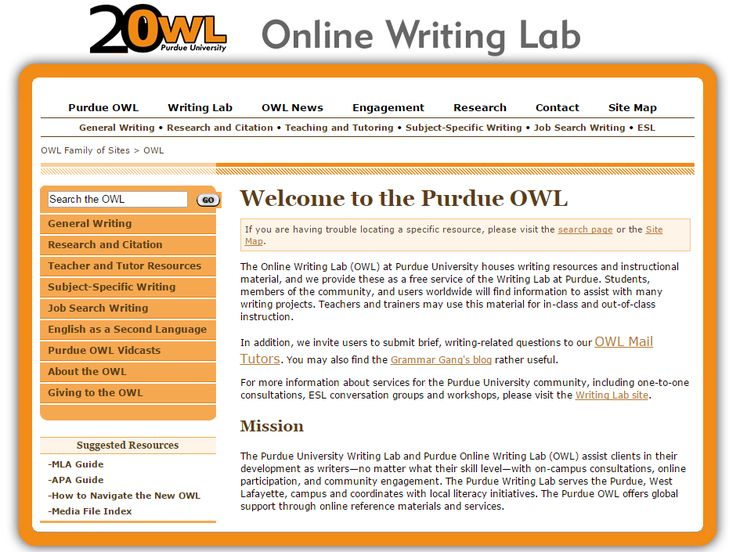 Purdue owl writing essay exams