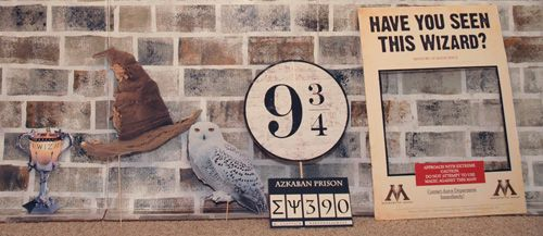 Triwizard Cup, Sorting Hat, Hedwig, Platform 9 3/4 props for Harry Potter photo booth - DIY Tutorial http://tinyurl.com/p5n78e7