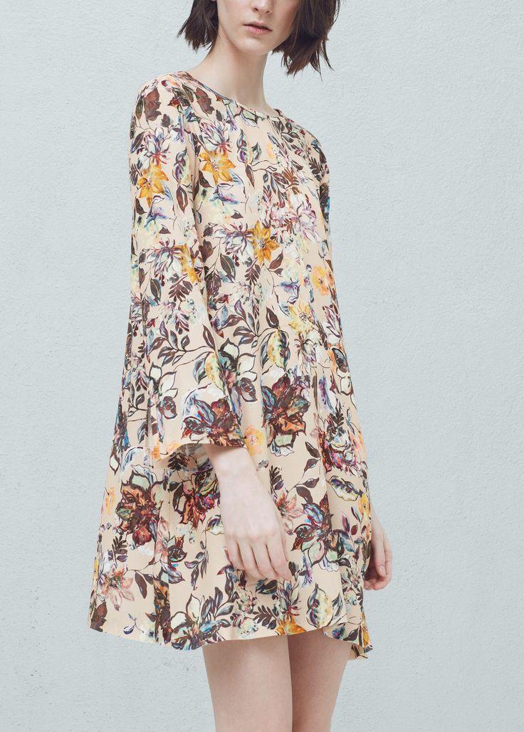 Floral-print flowy dress - Dresses for Women | MANGO USA