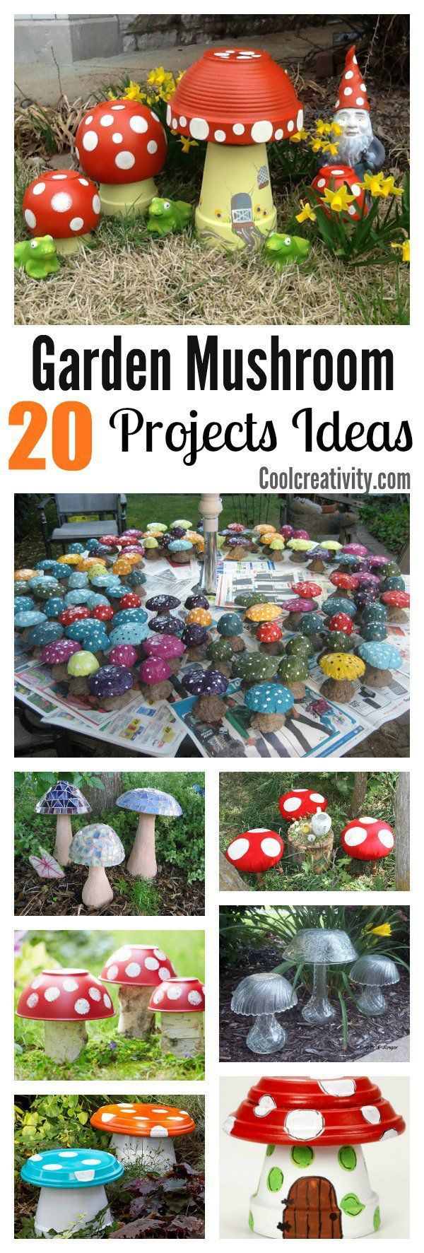 20 garden mushroom projects
