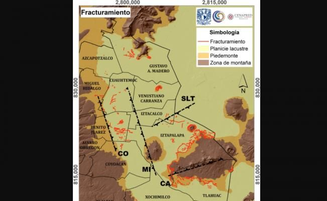 Presentan mapa digital de las fracturas en el suelo de la CDMX - El Universal
