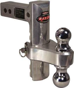 """Trimax TRZ8ALRP 8"""" Aluminum Adjustable Hitch with Dual Hitch Ball and Receive..."""