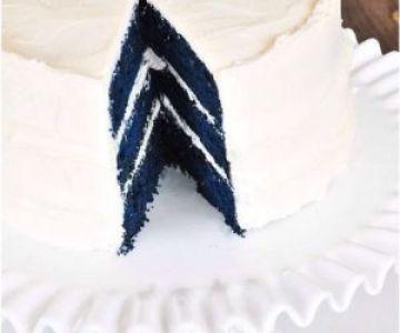 Mavi Kadife Kek