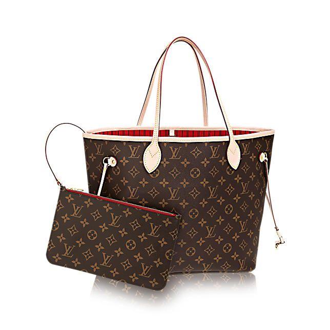 Neverfull MM - Monogram Canvas - Handbags | LOUIS VUITTON - red interior