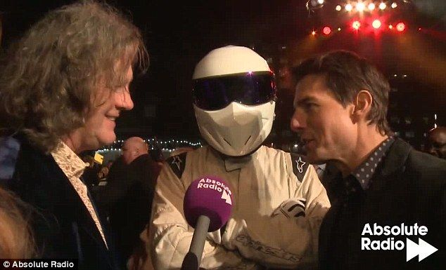james may and the stig showed up to the jack reacher premiere, awesome!