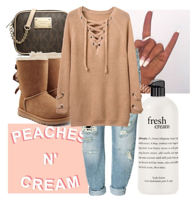 """"" by missmeraperry ❤ liked on Polyvore featuring philosophy, Michael Kors, Zara and UGG"