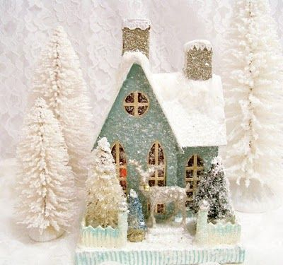 theroseberrycottage.blogspot.com - love the Cody Foster Christmas houses