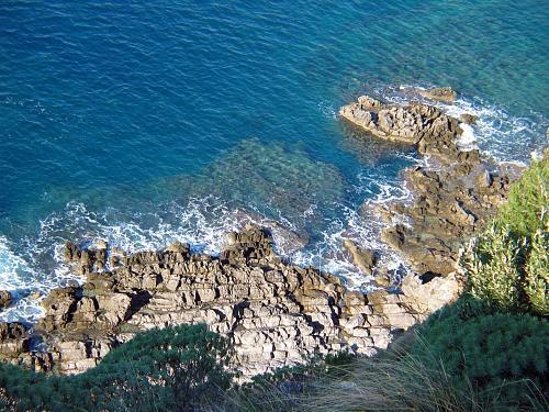 Punta Licosa aerial view