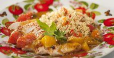 Индейка и кускус с цитрусовым соусом
