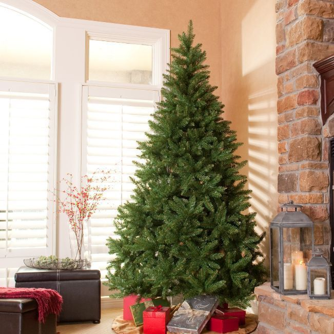 Artifilcial Christmas Tree Holiday Decoration Pine Shape With Stand Tall Green  #Unbranded