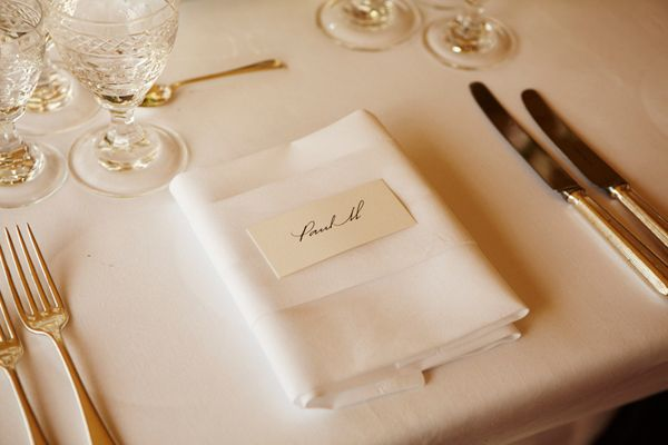 Paul McCartney's place at the table of Kate Moss wedding