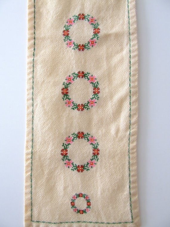 Scandinavian table runner  rustic with by thelittleblackhouse, $20.00