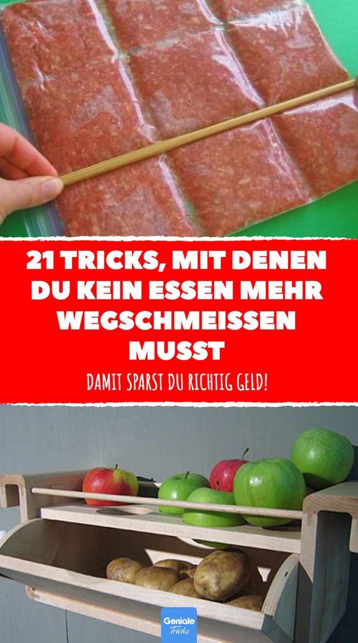 21 Tricks, mit denen du kein Essen mehr wegschmeißen musst. #sparen #tricks #hacks #geld #essen #lebensmittel #küche #haushalt