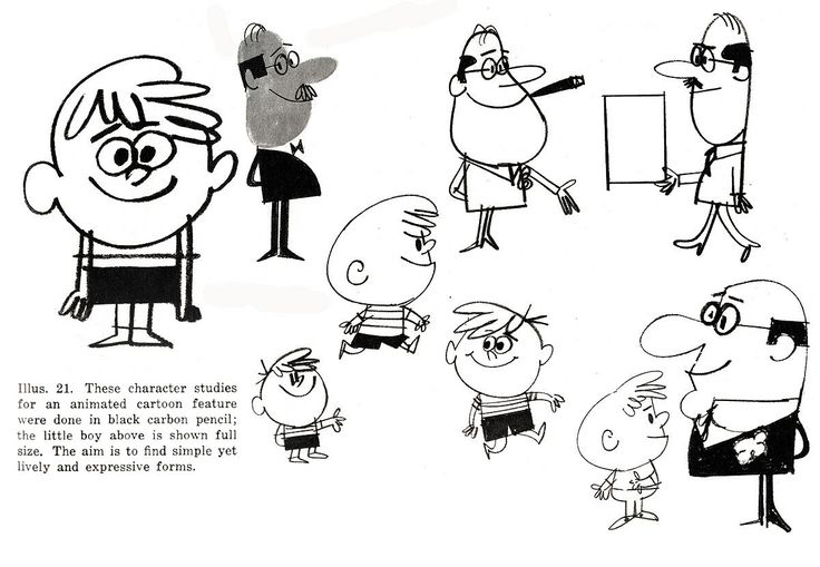 Cartoon character designs from the 50s  from http://cartoonmodern.blogsome.com