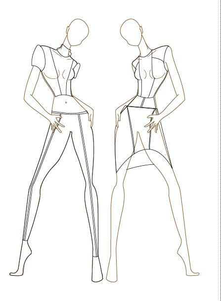 Best 25 female croquis ideas on pinterest fashion templates garments on female croquis template pronofoot35fo Gallery