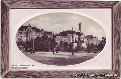 Ansichtskarte Tiergarten Berlin Lützowplatz Rahmen Parcepartout ca 1904