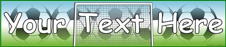 Editable football/soccer-themed display banner