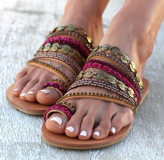 Leather Sandals Aysel Handmade Greek Sandals by DimitrasWorkshop