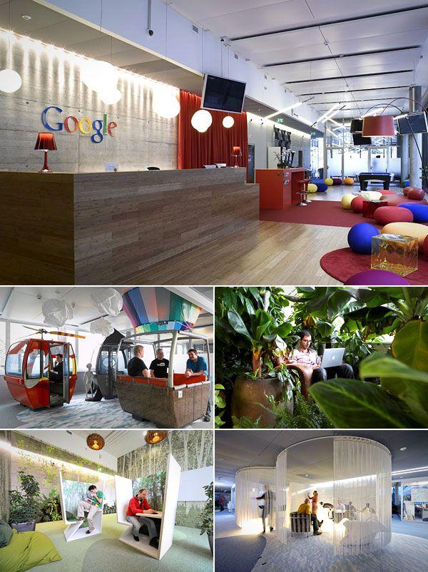Coolest Corporate Headquarters - CNBC. Google's Zurich offices.