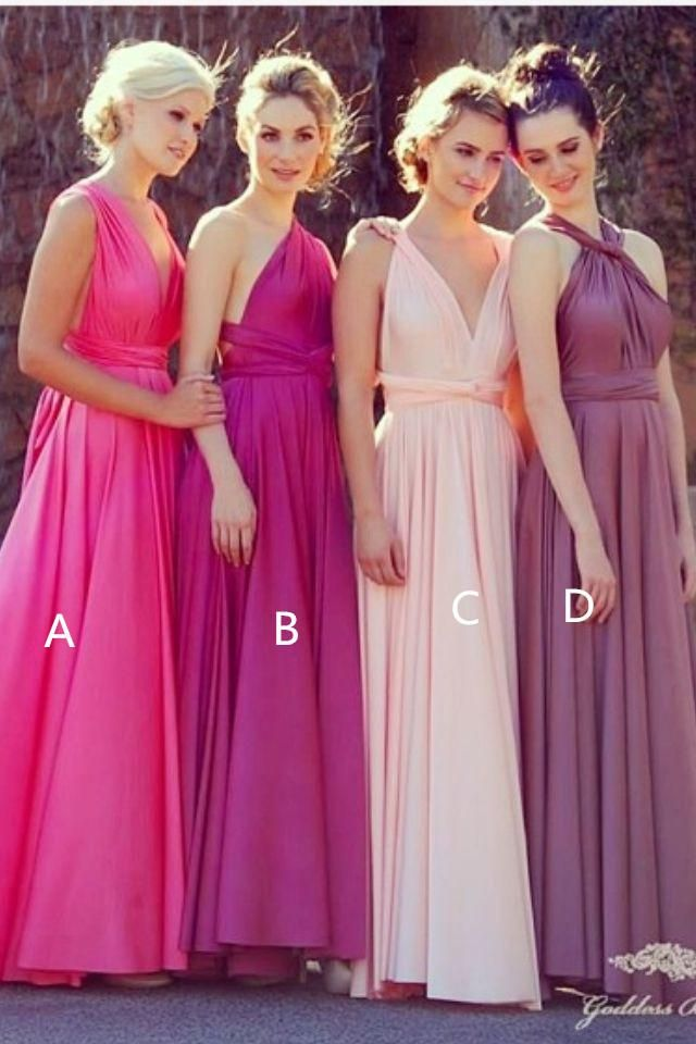 Wholesale Bridesmaid Dress - Buy Custom Made-4 Kinds Of Style Long Graceful Charming A-line Bridesmaid Dress Floor Length Zipper Back Exquisite Fashion Maid Of Honor Gown, $85.21 | DHgate