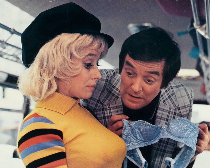 Barbara Windsor and Jimmy Logan. Carry On Abroad. 1972