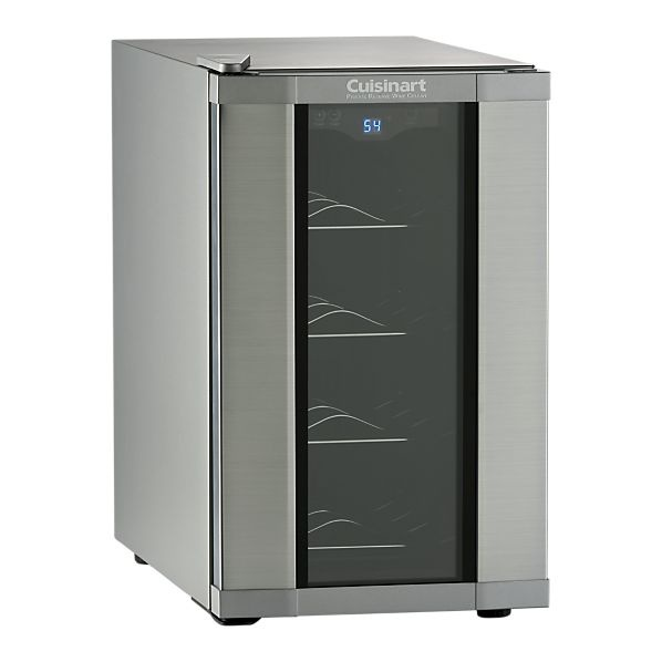 the perfect wine cellar/cooler for the home bar. Sleek, sexy, holds 8 bottles, and on sale, a steal!