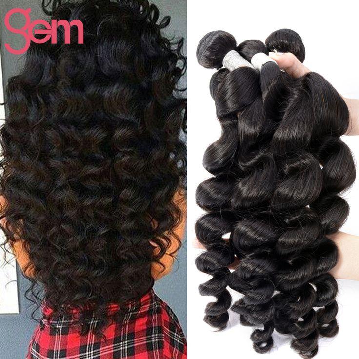 New Arrive 7A Indian Loose Wave Hair 4 Bundles Unprocessed Indian Virgin Hair Loose Body Wave Human Hair GEM Beauty Curly Weave