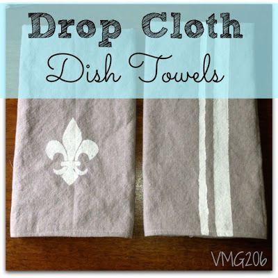 DIY Drop Cloth Dish Towels