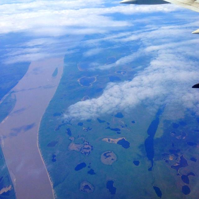 The Mackenzie Delta in mid June.