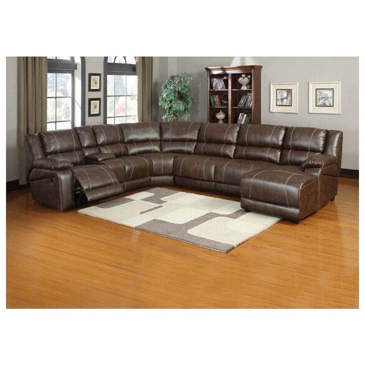 Cheap Sectional Sofas  pc Miller saddle brown bonded leather sectional sofa with recliners and chaise Join the