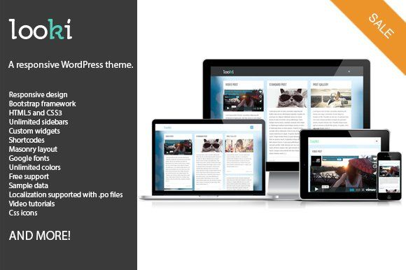 Looki Responsive Wordpress Theme Wordpress Theme Responsive Blog Themes Wordpress Corporate Wordpress Themes