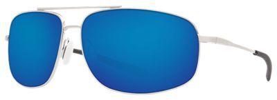 Costa Shipmaster 580P Polarized Sunglasses - Brushed Palladium/Blue Mirror