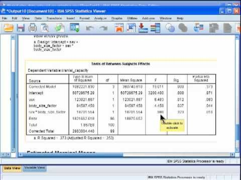 Analysis of Covariance (ANCOVA) - SPSS (part 4) - YouTube                                                                                                                                                                                 Plus