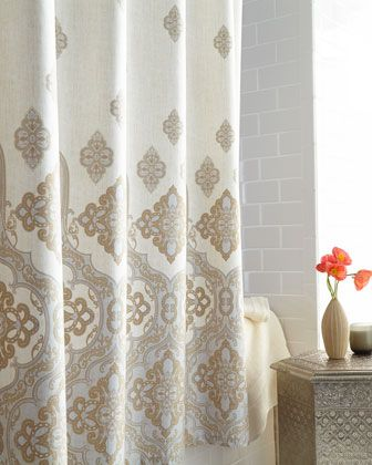"""Marrakesh"" Shower Curtain by Charisma at Neiman Marcus. Love these pastels"