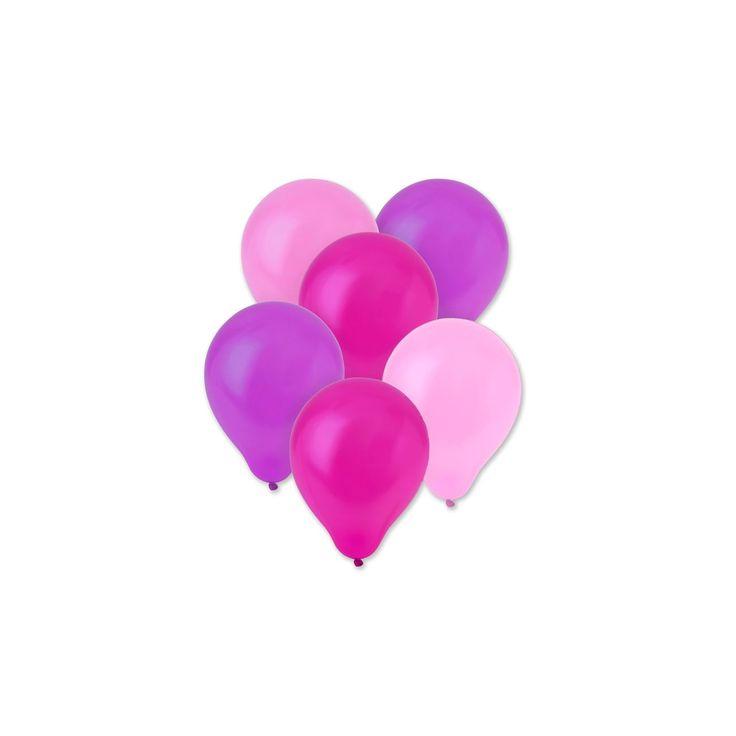 Η συσκευασία περιέχει 10 μπαλόνια 3 χρωμάτων (ροζ, φούξια, μωβ) των 25 εκ.    *ΠΡΟΣΟΧΗ! Δεν είναι κατάλληλο για παιδιά κάτω των 8 ετών.